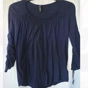 3/4 length sleeves peasant sleeve blouse